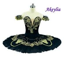 Professional tutus for ballet Adults Black Gold Ballet Stage costumes Women skirte YAGP Platter Pancake Tutu