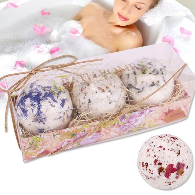Bath Salt Bombs Bubble Salts Ball Oil Sea Salt Handmade SPA Stress Bath Accessories Shower Salts 5