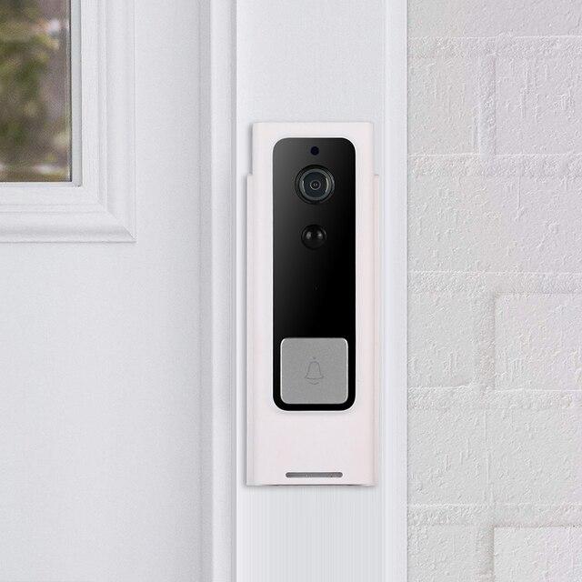 Tuya WiFi akıllı güvenlik kapı zili HD 1080P kablosuz görsel interkom kayıt görüntülü kapı telefonu PIR hareket dedektörü yağmur geçirmez