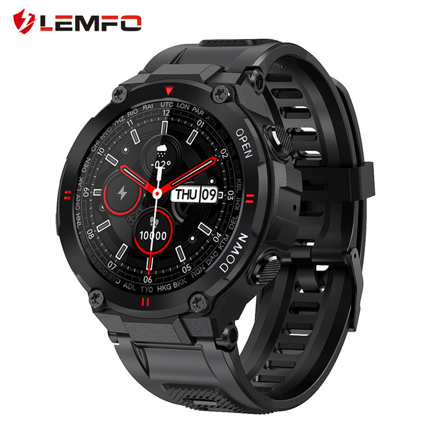LEMFO 2021 New Smart Watch Men Fitness Tracker 400 mAh Battery Bluetooth Calls Customized Dials Outdoors Sports Smartwatch 1
