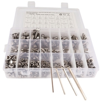 520 Pcs Stainless Steel Screws And Nuts M3 M4 M5 M6 Hex Socket Head Cap Screws Assortment Set Kit With Storage Box