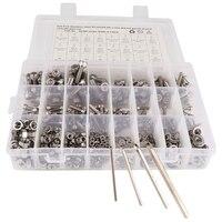 520 Pcs Stainless Steel Screws And Nuts M3 M4 M5 M6 Hex Socket Head Cap Screws Assortment Set Kit With Storage Box