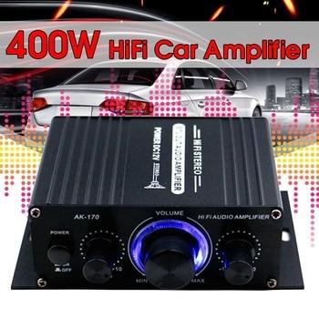 200+200W 12V Audio Amplificador HIFI Audio Power Amplifier Digital Stereo for Car Music Amplifiers FM Radio USB/TF/AUX mayitr 1pc 220v pro car bluetooth amplifier hifi bass power amp stereo digital amplifier usb tf remote for car accessories