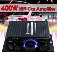 200 + 200W 12V de Audio Amplificador HIFI Amplificador de potencia de Audio estéreo de bluetooth para coche música amplificadores Radio FM USB/TF/AUX