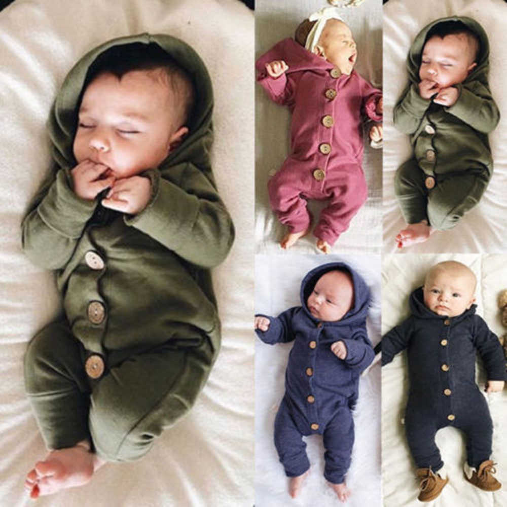 Schattige Beer Pasgeboren Baby Baby Boy Girl Kid Oor Hooded Romper Rits Cartoon Patchwork Jumpsuit Kleding Outfit Voor 0- 24M