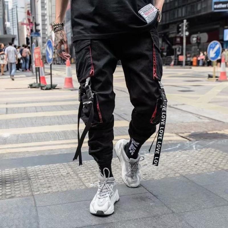 Pantalones De Los Hombres Pantalones De Chandal Pantalones De Hombres Sueltos Hombres Cool Hiphop Nueva Moda Camisetas Pantalones Hombres Streetwear A Kenchan Me