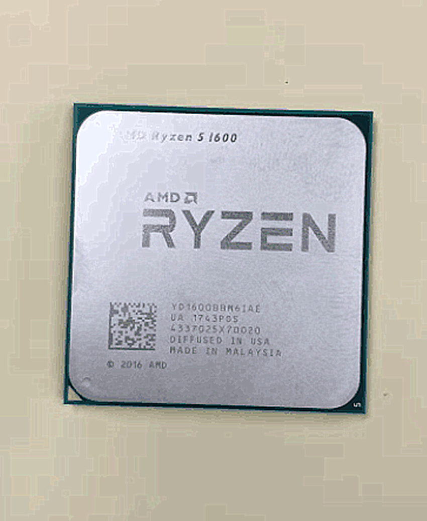 AMD Ryzen 5 1600 R5 1600 3.2 GHz Six-Core Twelve Thread 65W CPU Processor YD1600BBM6IAE Socket AM4 Free Shipping