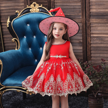 Vgiee Girls Dresses for Party Wedding Fall Winter Baby Girl Clothes Sleeveless Knee-Length Mesh Kids CC605A
