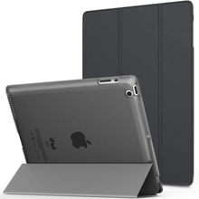 Para ipad 4 modelos de caso a1458 a1459 a1460 leve magro capa para ipad 234 retina display translúcido fosco volta capa