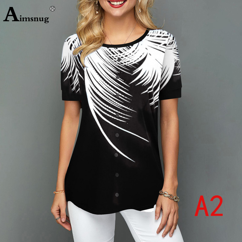 H0f85c9de38ae4806931af811f26c376cp - Plus size 4xl 5xl Women Fashion Print Tops Round Neck Short Sleeve Boho Tee shirts New Summer Female Casual Loose T-shirt