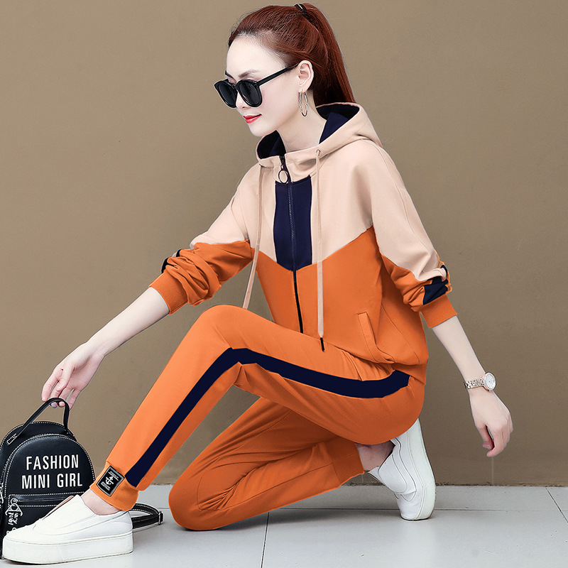 Autumn Sports WOMEN'S Suit Autumn 2019 New Style Korean-style Fashion Loose Slimming Popular Brand 2-piece Casual Suit Spring An