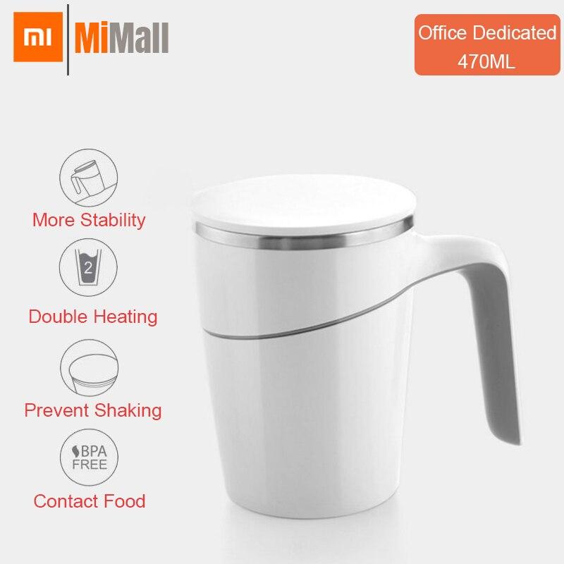 Original Xiaomi Fiu 470ml Nicht Gießen Tasse Smart Wasser Tasse Innovation Magie Sauger Nicht-slip ABS Doppel Isolierung 304 edelstahl