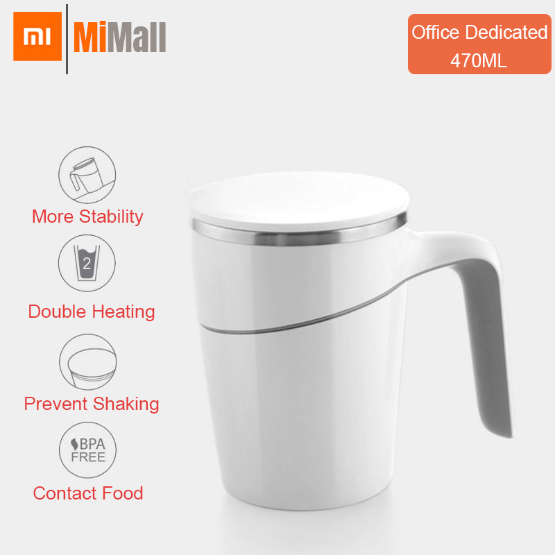 Original Xiaomi Fiu 470ml pas verser tasse Smart eau tasse Innovation ventouse magique antidérapant ABS Double isolation 304 inoxydable