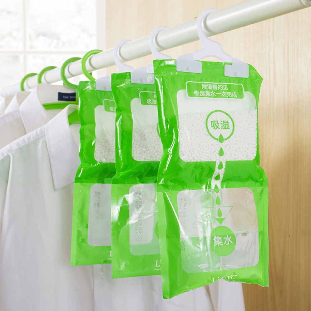 190g Interior Dehumidifier Desiccant Damp Storage Hanging Bags Wardrobe Storage Bags Organizer Hanging Dehumidifier Bag