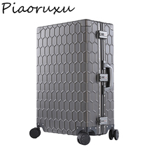 "Piaoruxu20""26""29""100% Aluminum Magnesium Alloy Rolling Luggage Mens Business Trolley Suitcase Full Metal Travel Case Women Rose"
