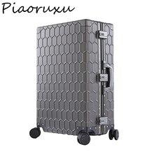 Чемодан на колесиках Piaoruxu20 из алюминиево магниевого сплава для мужчин и женщин, чехол для делового костюма на колесиках, полностью металлический дорожный Чехол, роза, 20 дюймов, 26 дюймов, 29 дюймов, 100%