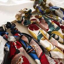 Diadema elástica con estampado Floral para mujer, pañuelo para el pelo, lazos bohemios, cuerdas de goma, accesorios para el cabello