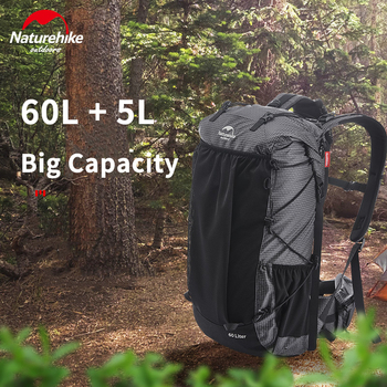 Naturehike Backpack Male 60L Camping Backpack High Capacity Waterproof Men and Women Bag Lightweight Travel Backpack Sports