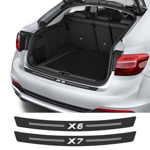 Car Sticker For BMW X5 E53 E70 E83 F15 G05 X1 F48 X3 F25 X6 E71 X2 F39 X4 F26 X7 G07 Car Accessories Carbon Fiber Trunk Decals