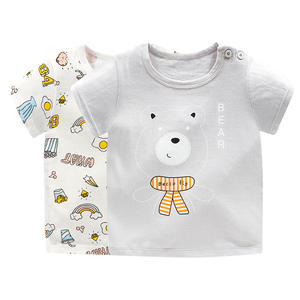 T-Shirt Boys Short-Sleeve Toddler Girls Cotton Summer Print Fashion Cartoon 0-6Y Round-Neck