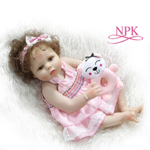 NPK 56CM Full Body Slicone Reborn Baby Doll Girl Bebe Alive Doll Lifelike Soft Baby Dolls Reborn Bath Toy Kids Christmas Gifts ocday reborn baby boy doll 56cm full body soft silicone vinyl handmade lifelike toys doll for kids playmate gift toy cute reborn