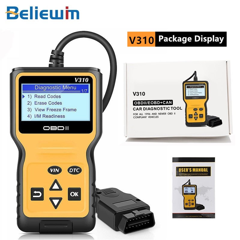 V310 Mini OBD2 Scanner Auto Diagnostic Scanner Full Function Car Diagnosis Universal OBD Engine Code Reader