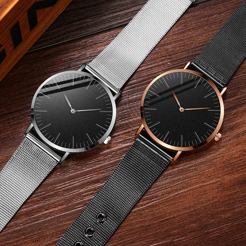 Quartz Watch 2020 Minimalist Men's Watch Fashion Sports Watch For Men Simple Men Business Stainless Steel Mesh Relogio Masculino