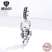 Star Sign Beads Hot Sale 925 Sterling Silver Quiet Scorpio Zodiac Constellations Charms fit for DIY Bracelets 925 Jewelry