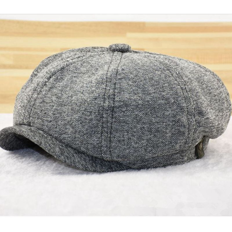 Octagonal-Cap Beret-Caps 61-63cm Large-Size Wool Male Winter Felt 56-58cm 59-60cm Big-Bone-Man