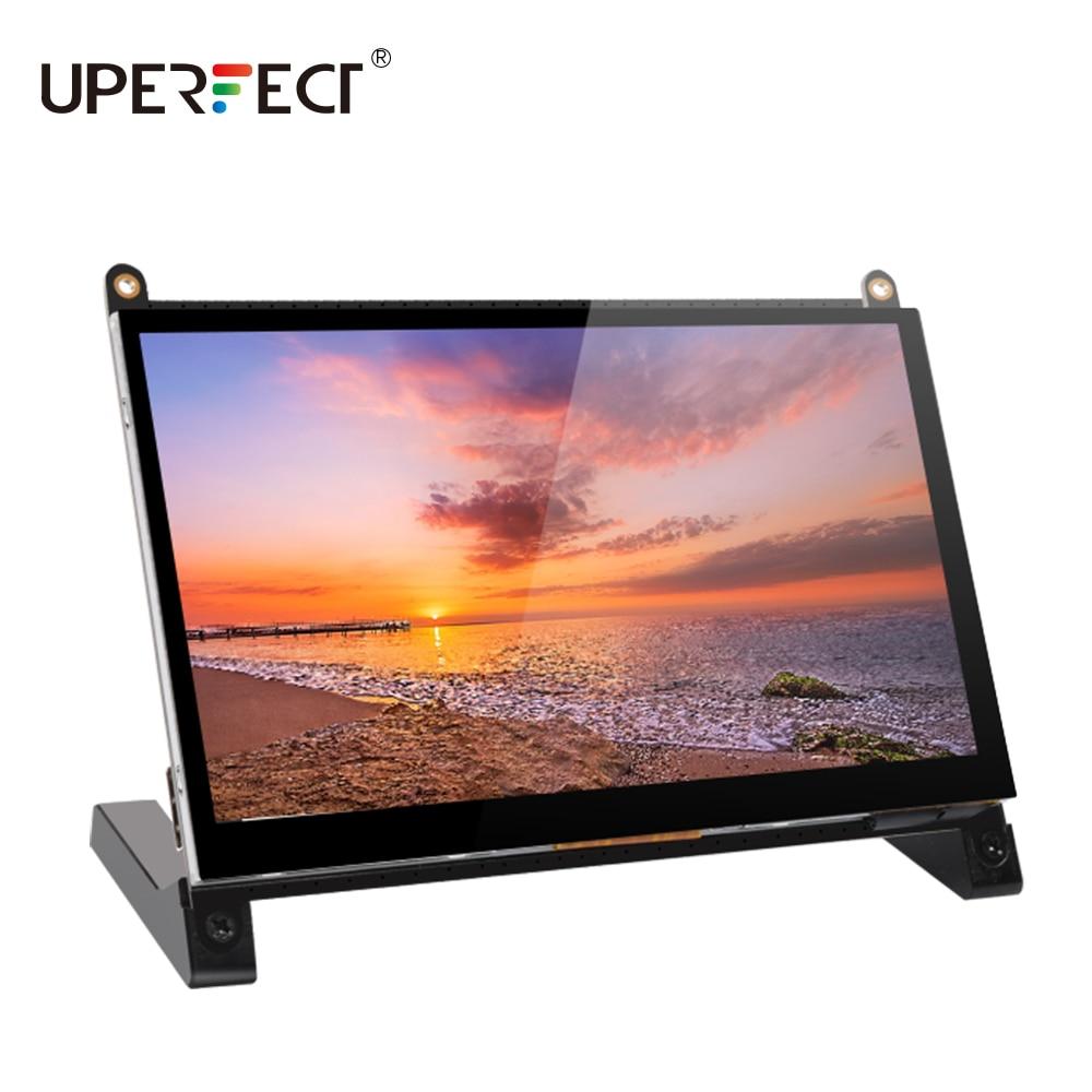 UPERFECT 7 Cal Monitor z ekranem dotykowym wyświetlacz LCD interfejs HDMI dla Raspberry Pi 4B 3B + 3B 2B + BB czarny Banana Pi Windows 10 8 7