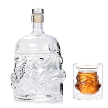 Cool Star Wars Storm trooper casque whisky carafe cristal verre vin carafe bouteille aérateur magique verres à vin accessoires