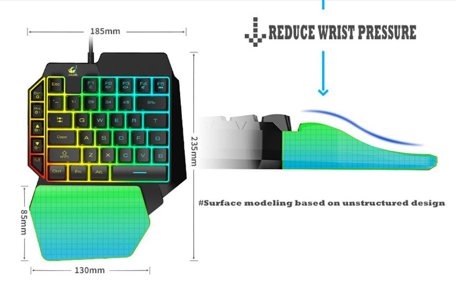 rato 2400dpi usb wired mouse gamer ergonômico