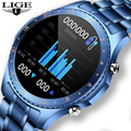 LIGE 2021 New Steel Band Smart Watch Men Sport Multifunctional Waterproof Smartwatch Heart rate Bluetooth Call For Xiaomi Huawei