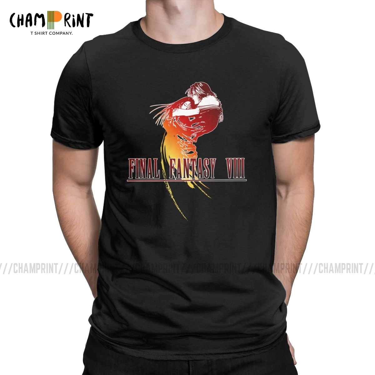 FF VIII T Shirt Men's 100% Cotton Leisure T-Shirts O Neck Final Fantasy Video Game Tee Shirt Short Sleeve Clothes Birthday Gift image