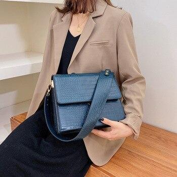 Broadband Messenger Bag Female New Stone Pattern Shoulder Small Square Women Bag