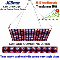 JCBritw LED Grow Light Full Spectrum Growing Lamps 90W AC85 265V Plant Light for Indoor Plants Hydroponic Veg Bloom Flower Seed