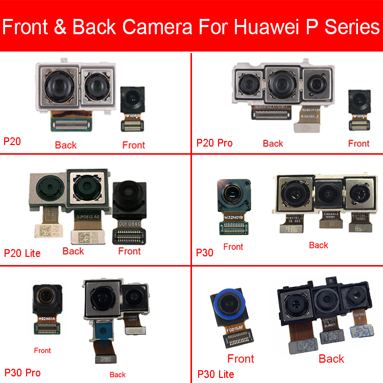 Small And Big Front & Rear Camera For Huawei Nova 3e 4e P20 P30 Pro Lite Back Camera Main Camera Flex Cable Replacement Repair