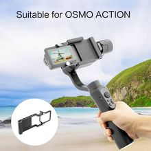 Aluminum Alloy Mount Plate Frame Holder Bracket Mobile Adapter for DJI Osmo Action Sports Camera Accessories