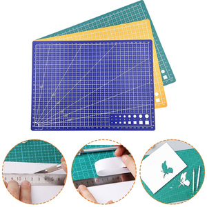 1pc A5 Grid Line Self Healing Cutting Mat Craft Card Fabric Leather Paper Board
