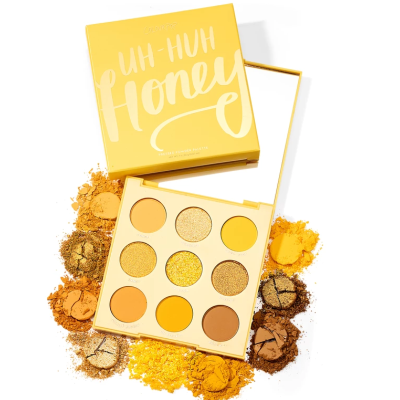 Colourpop 9 Colors Uh-huh Honey Glitter And Matte Eyeshadow Palette