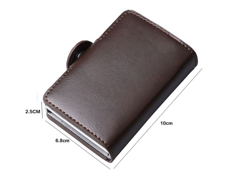 Stainless Steel RFID Anti-thief Double Side Wallet Card Holder Folder Money Clip