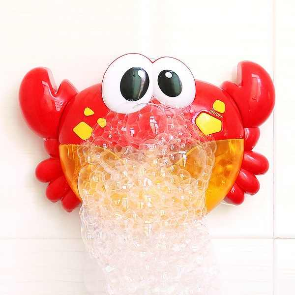 Bolha caranguejos música brinquedos de banho do bebê crianças piscina banheira máquina sabão bolha automática engraçado caranguejo sapo nuvem pato bathtoy