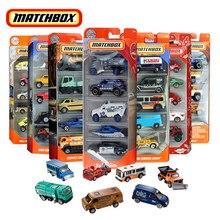 Matchbox Car Toys for Children 5 Pcs Car Alloy Model Car 1:64 Kids Toys for Boys Hot Toys Ambulance Police Engineering Vehicle