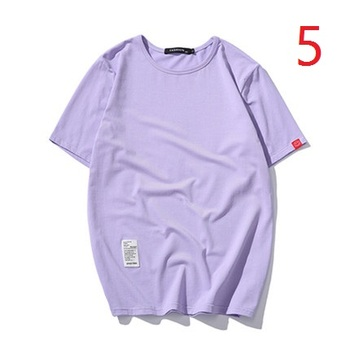 Summer thin men's short-sleeved t-shirt round neck trend Slim solid color clothes male handsome tide T-shirt  4428