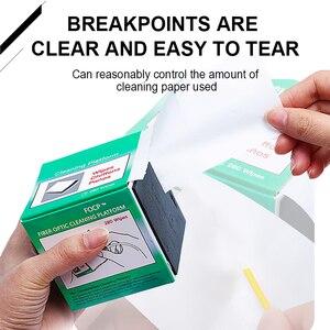 Image 5 - ONTi 280pcs/box Fiber Cleaning Wipes Platform Dustfree Paper Fiber Optic Low lint Wipes Optical Fiber Clean Paper FTTH Tools