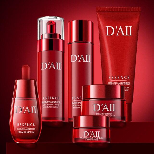 Skin Care Set Face Toner Essence Eye Cream Lotion Facial Cleanser Serum Nicotinamide Nourish Anti-Aging Cosmetics Kit Women M 1