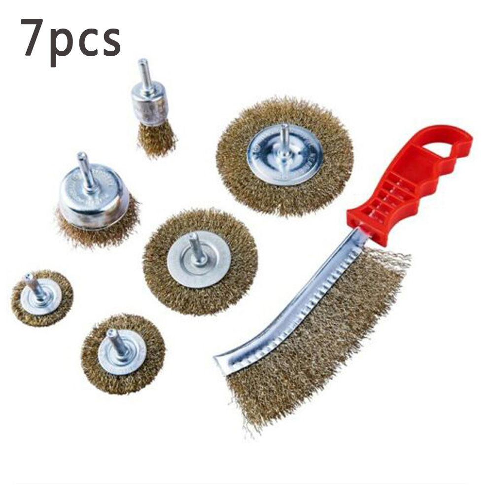 """65mm Brass Wire Cup Brush With 1//4/"""" Shank Crimped For Rotary Tools Drill"""