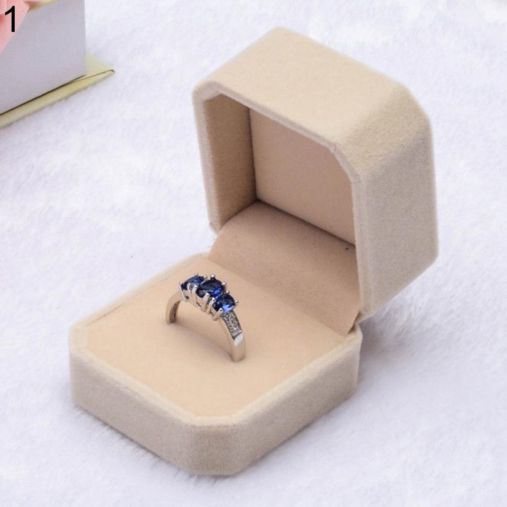 Velvet Engagement Wedding Earring Ring Pendant Jewelry Display Box Gift Case New Jewelry Box/joyeros Organizador De Joyas/ring B