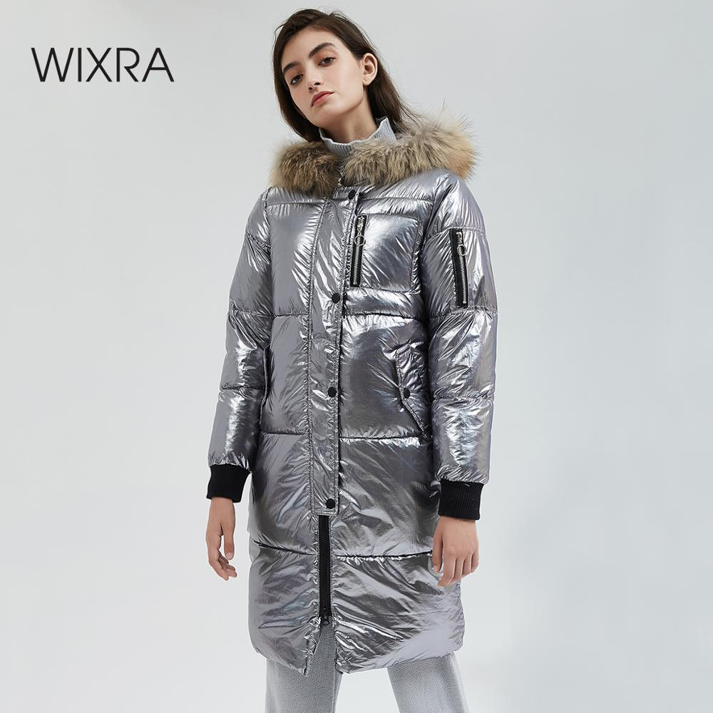 Wixra Women Thick Warm Hooded   Parka   Fashion Woman Pockets Solid Cotton Female   Parkas   Hooded Women's Coats Clothing