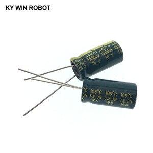 Image 4 - 10 قطعة مكثفات كهربائية 1500 فائق التوهج 16V 10x20 مللي متر 105C شعاعي عالية التردد مقاومة منخفضة مُكثَّف كهربائيًا